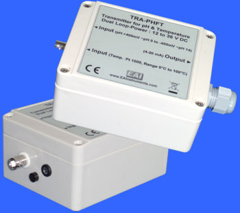 Compact wall-mounting Industrial Transmitter for pH Electrode and Pt1000 Temperature Sensor